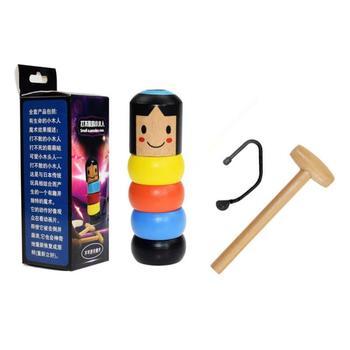 PROMA nieruchome Tumbler magiczne uparte drewno człowiek zabawka śmieszne niezniszczalne zabawki magiczne sztuczki zbliżenie etap magiczne zabawki dla dzieci dziecko tanie i dobre opinie Strong-Toyers CN (pochodzenie)