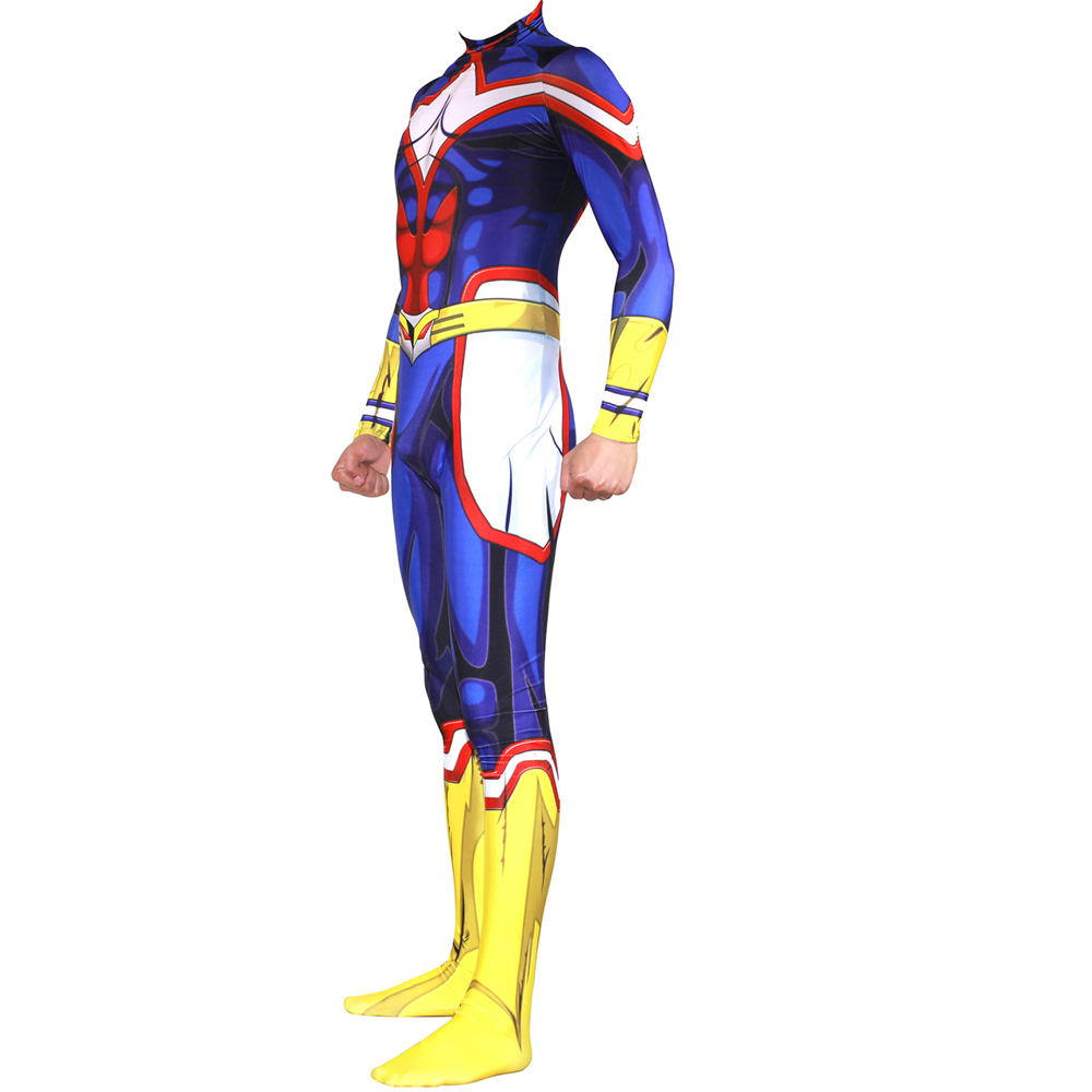 Anime My Hero Academia Boku No Hero Academia Cosplay Costume AllMight Zentai Bodysuit Suit Jumpsuits