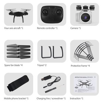 HJ14Q FPV Camera Drone RC Quadcopter Live Video Altitude with 1 battery 2.4GHz 4 Channels 6 Axis Gyr