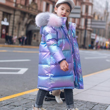 Down-Jacket Winter Clothes Outerwear Parka Snowsuit Thicken Girl Child Fashion for Warm