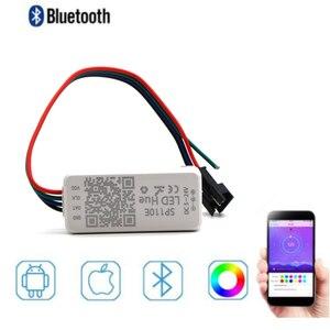 Image 1 - SP110E Bluetooth פיקסל בקר דימר עבור WS2811 WS2812B ws2812 SK6812 RGB RGBW APA102 WS2801 פיקסלים חלום צבע LED הרצועה
