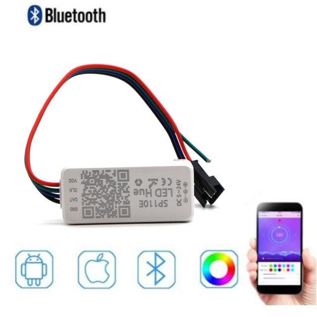SP110E Bluetooth פיקסל בקר דימר עבור WS2811 WS2812B ws2812 SK6812 RGB RGBW APA102 WS2801 פיקסלים חלום צבע LED הרצועה