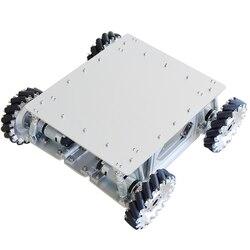 Kit de châssis de voiture de Robot de roue de Mecanum d'absorption de choc de charge de 40KG avec le moteur planétaire d'engrenage de 4 pièces pour Arduino STM32 Raspberry Pi