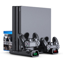 OIVO PS4/PS4 Slim/PS4 Pro Dual Controller Charger Console Vertical Cooling Stand Charging Station 4 Connector For Playstation 4