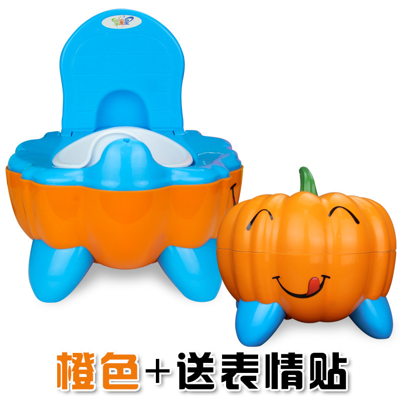 374 Ying Kidstar Pumpkin Model Home Accessories Cartoon Toilet For Kids Small Chamber Pot