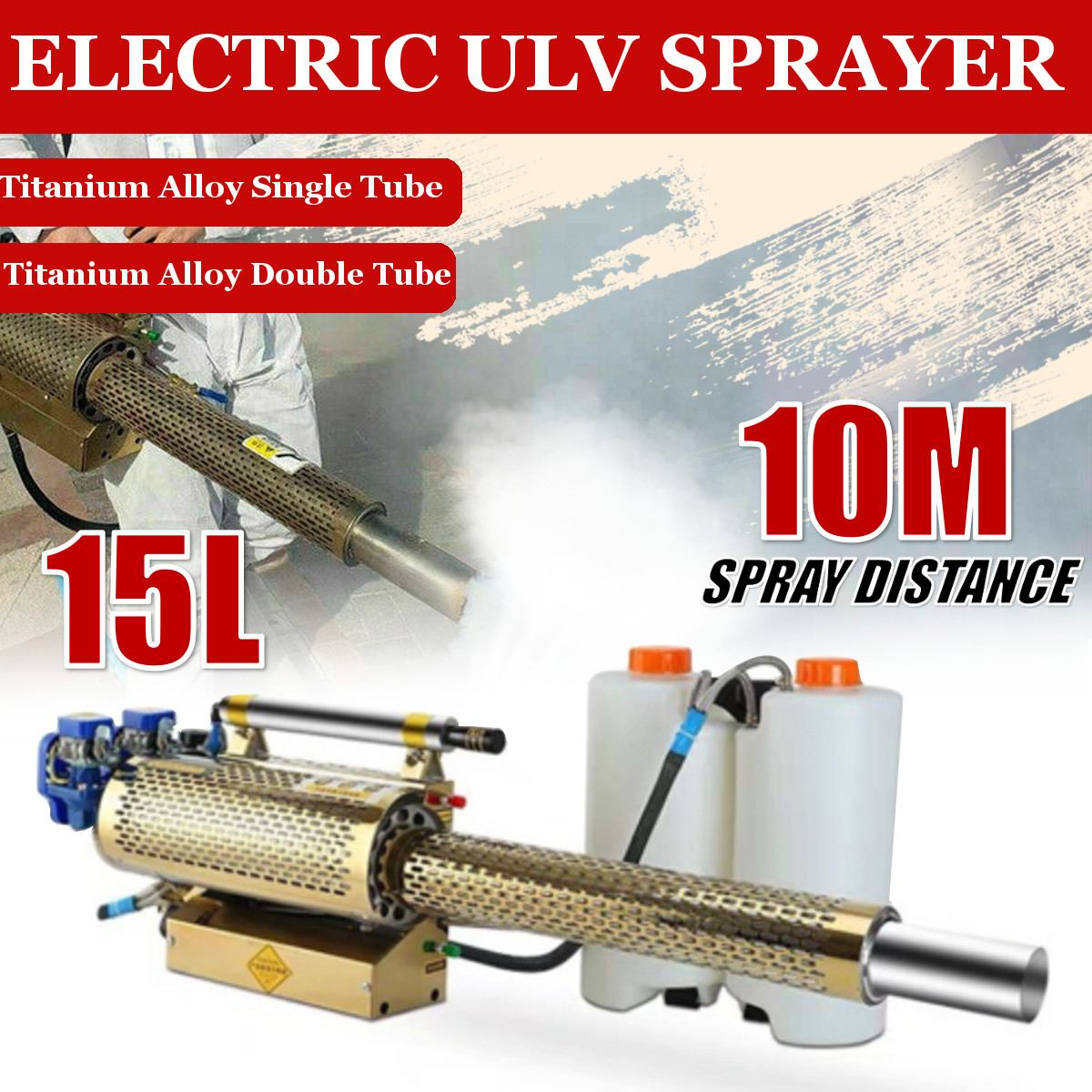 Portable Disinfection Thermal Fogger Machine ULV Fogger Machine Large Capacity Sprayer Spray Machine Virus Disinfection