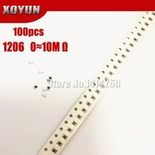 SMD Resistor 0R 150 10K 100R Ohm 220R 1206 1R 100pcs 1-10-100 0r--10m 1/2w 220-330 330R