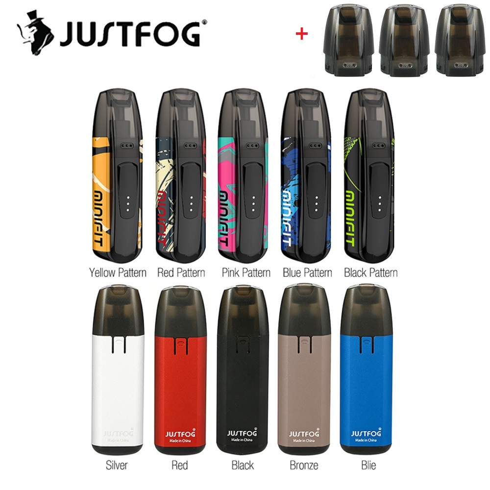 Original JUSTFOG MINIFIT Pod Vape Kit 370mAh Battery With 1.5ml Cartridge 1.6ohm Coil & Constant Voltage Output Vs Justfog C601