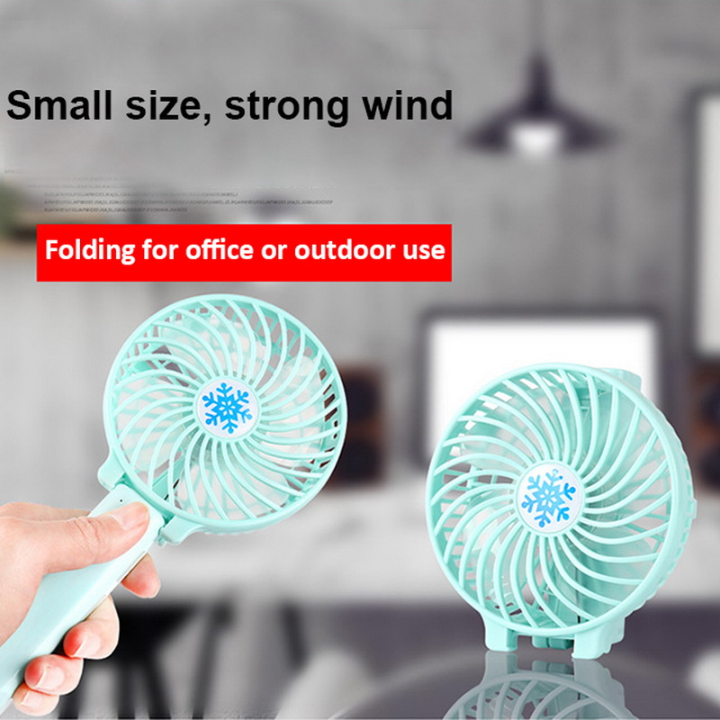 Mini Handheld Fan Cooler Handheld USB Charging Mini Desk Fan Rechargeable Abs Portable for Office Outdoor Household Travel,A