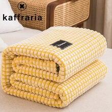 Cobertor de lã macia cobertores adultos estilo japonês colcha cobertor de cama engrossado quente siesta cobertores xadrez couverture