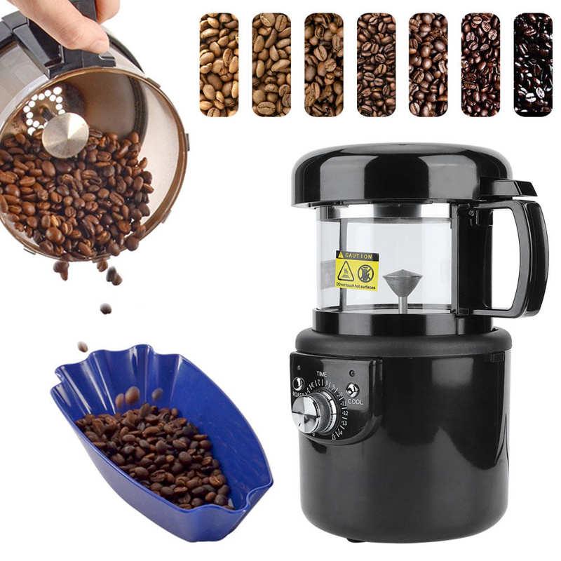 Маленький полностью автоматический Электрический аппарат для жарки кофе горячим воздухом, 2 в 1 аппарат для выпечки и охлаждения, ЕС 220-240 В