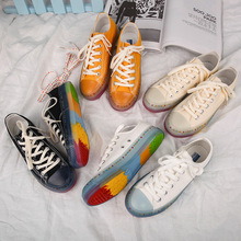 Girls Summer Casual Shoe Rainbow Sneakers 2019 Autumn New Low Lacing Bright Soli