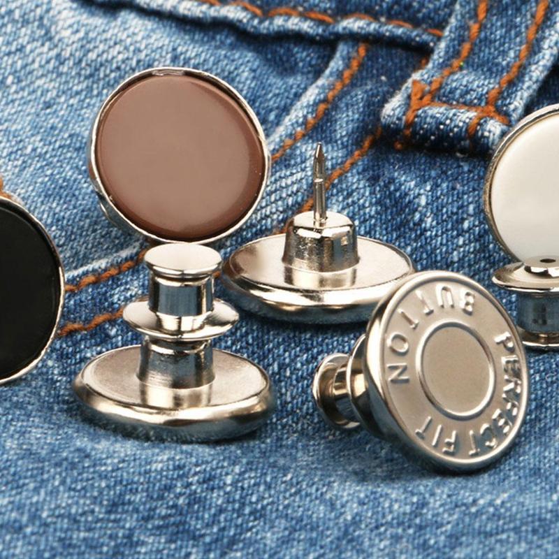 2 шт., съемные металлические пуговицы для джинсов