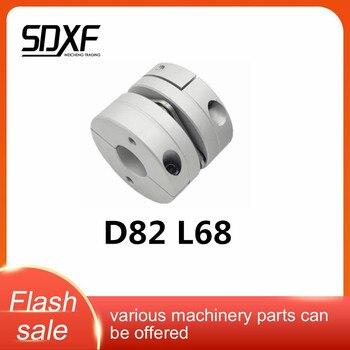 Aleación de aluminio D82L68 Acoplamiento de diafragma único junta elástica D82mm L68mm tornillo de bola servo a pasos motor codificador ordenador FA partes