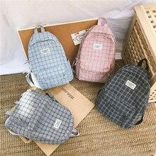 Mochila de cuadros a la moda para mujer, bolso de hombro para estudiante, Chica adolescente de viaje, mochila escolar, mochila para niñas