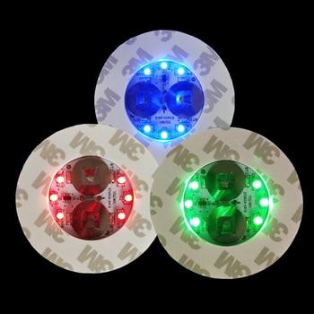 15/10/5/2pcs LED Bottle Light Stickers Glow Coaster Super Bright Lamp for Xmas New Year Wedding KTV Bar Drink Cup Glorifier Mat 1