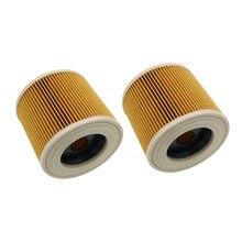 2 pz/lotto dellaria di ricambio filtri antipolvere borse per Karcher Aspirapolvere parti Cartuccia di Filtro HEPA WD2250 WD3200 MV2 MV3 WD2 WD3