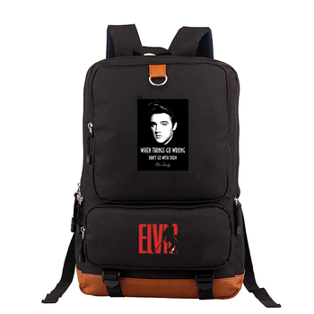 2020 new Elvis print laptop backpack backpack anti-theft male backpack school student backpack leisure outing backpack фото