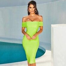 Adyce 2019 moda feminina verde bandagem vestido sexy sem alças sem alças bodycon fora do ombro clube celebridade festa à noite vestido