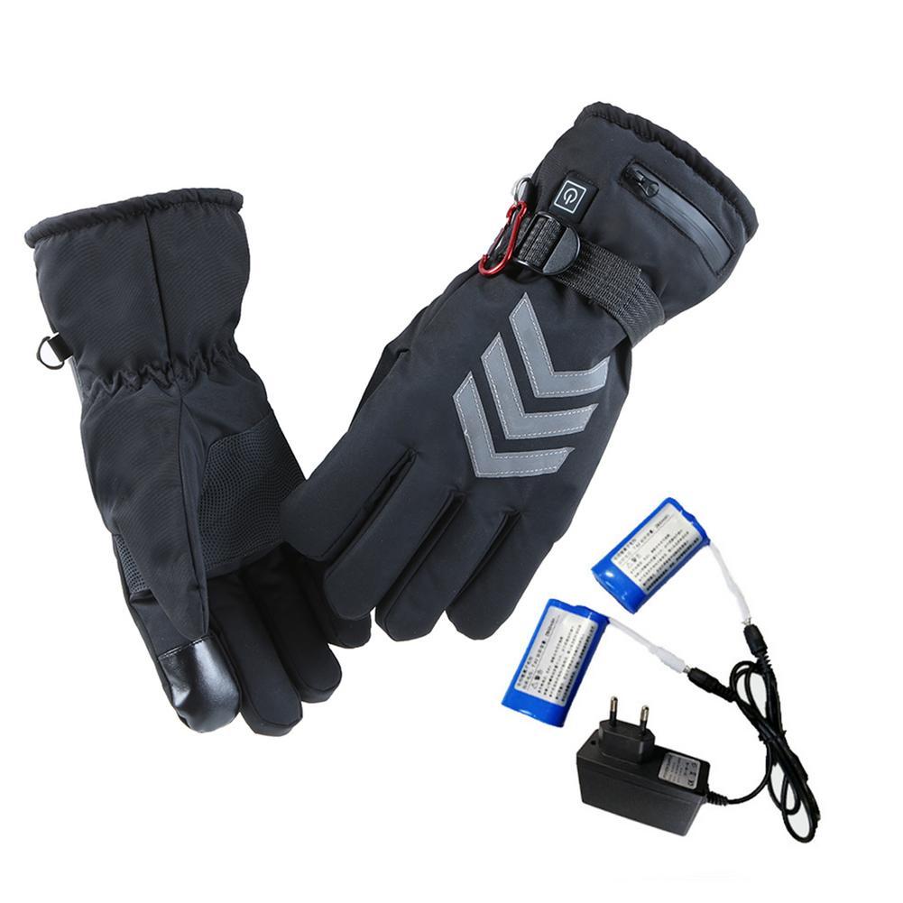 Перезаряжаемые грелки для рук, зимние электрические термоперчатки с подогревом на батарейках, перчатки для езды на велосипеде, мотоцикле, в...