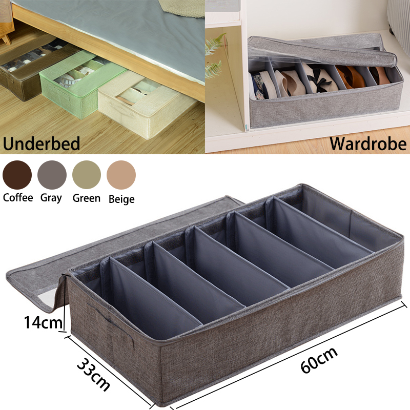 Shoe Storage Box With Lid 6 Grid