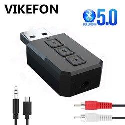 USB Bluetooth 5.0 Audio émetteur récepteur RCA 3.5mm AUX USB Dongle stéréo musique sans fil adaptateur pour voiture kit PC TV casque