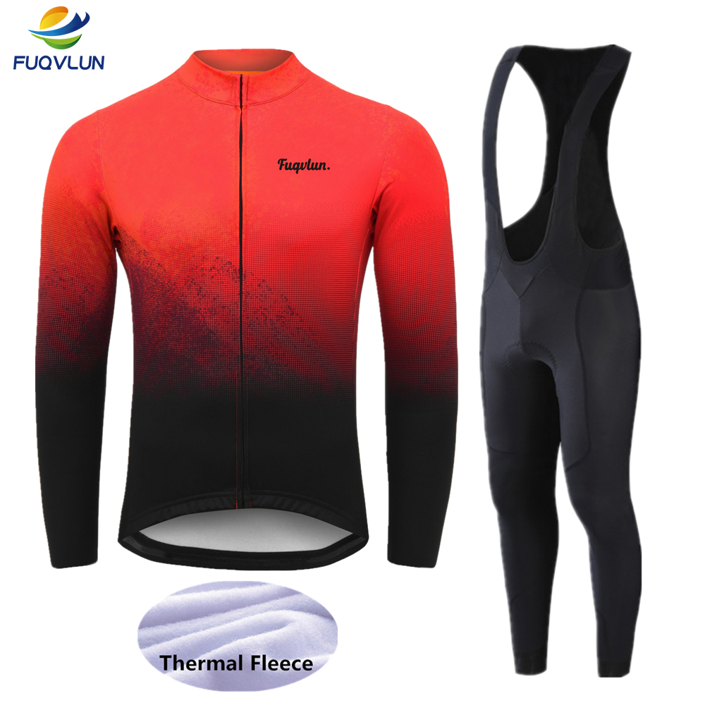 FUQVLUN 2020 new Winter Thermal Fleece Cycling Jerseys Set Maillot Ropa Ciclismo Bicycle Clothing Bike Clothes Sportswear -6FF3