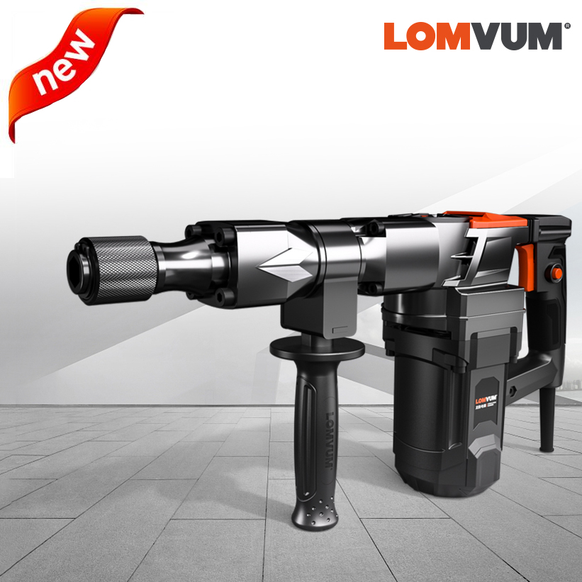 LOMVUM 220V 26mm Elétrica Martelo Martelos Perfurador para Uso Doméstico De Energia Elétrica Acessórios de Impacto do Martelo
