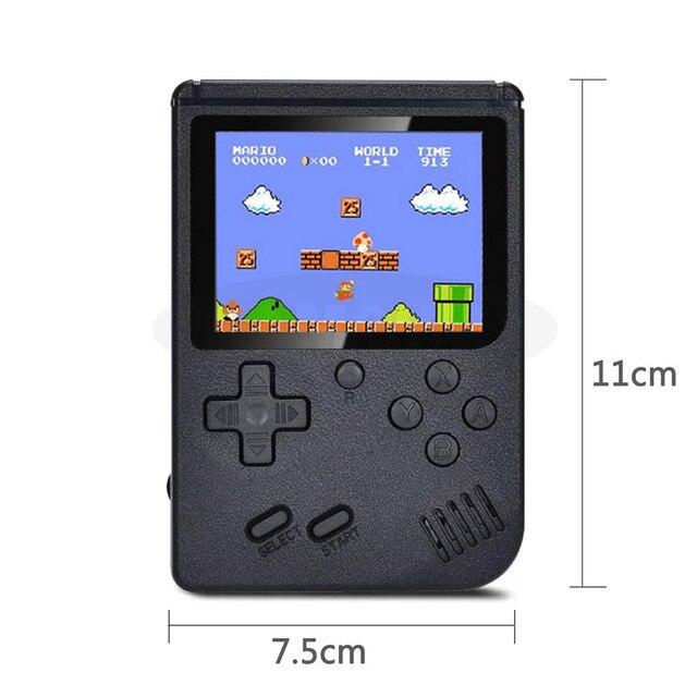 Przenośny Mini Retro konsola do gier przenośny odtwarzacz gier 3.0 Cal 500 gier w 1 kieszonkowej konsoli do gier