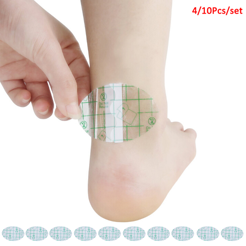 4/10Pcs Adhesive Hydrocolloid Gel Blister Plaster Anti-wearing Heel Sticker Pedicure Patch Foot Care Tools