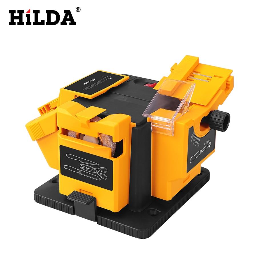 HILDA 96W 3in1 Multifunction Sharpener Household Grinding Tool Sharpener Drill For Knife Twist Drill HSS Drill Scissor Chisel