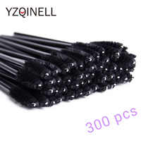 300pcs Disposable Eyelash Brush Mascara Wands Mini Lashes Brushes Mascara Applicator Micro Brushes for Eye Lash Make up Brush