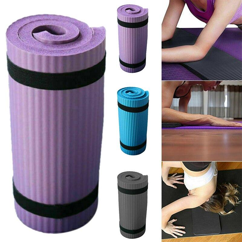 Hot Yoga Sport Mat Pilates Mat Thick PVC Anti-slip Blanket Exercise Gym Non-Slip Pilates Mats Workout 15mm Fitness Mats MVI-ing