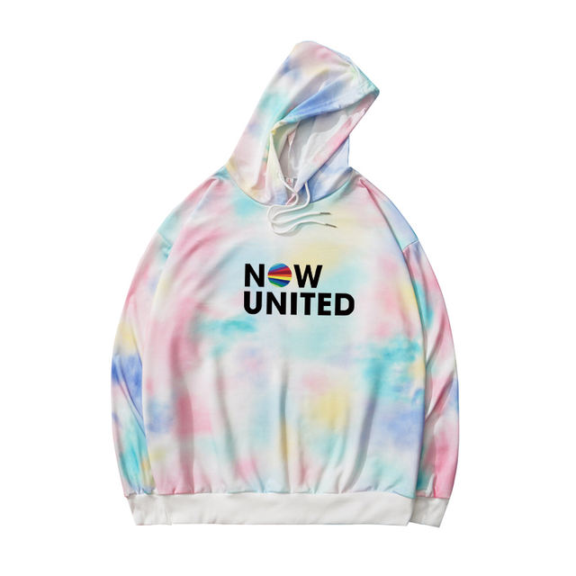 NOW UNITED TIE DYED THEMED HOODIE (2 VARIAN)