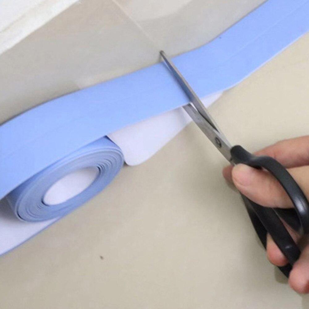 1 PC Wall Sealant Tape Self Adhesive Anti-Scratch PVC Waterproof Moisture Sealing Edge Corner Caulk Strip for Bathroom Kitche Y7