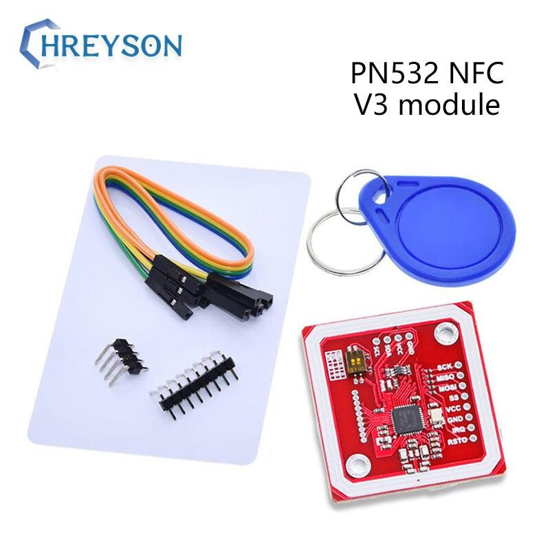 Модуль разработки PN532 NFC RFID V3 поддерживает связь с мобильными телефонами ближнего поля связи с беспроводным модулем