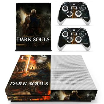 Dark Souls Skin Sticker Decal Cover For Xbox One S Console & Kinect & 2 Controllers For Xbox One Slim Skins Stickers Vinyl 1