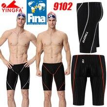 [Fina aprovado] nwt yingfa meninos 9102 competição treinamento de corrida jammers troncos de natação profissional todo o tamanho