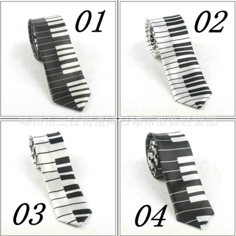 Creative Design Unique Musical Tie Gift For Man With Piano Keyboard Wide Classical Music Thin Tie For Men Ties