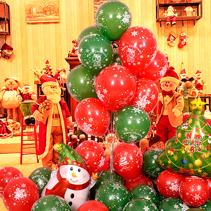 Christmas Balloons Kids Room Decoration Home Decoration Accessories Christmas Tree Decorations Child 2019 Latex Balloons Foil