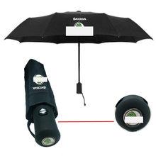 Guarda-chuva inteligente para skoda pequo, guarda-chuva de carro de cristal novo, fabia octavia, três cores