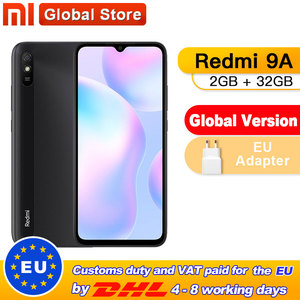 Global Version Xiaomi Redmi 9A Mobile Phone 2GB 32GB ROM MTK Helio G25 Octa Core 6.53