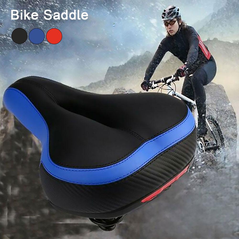 Human - Comfortable Wide Big Bum Bike Bicycle Gel Extra Sporty Soft Pad Saddle Seat