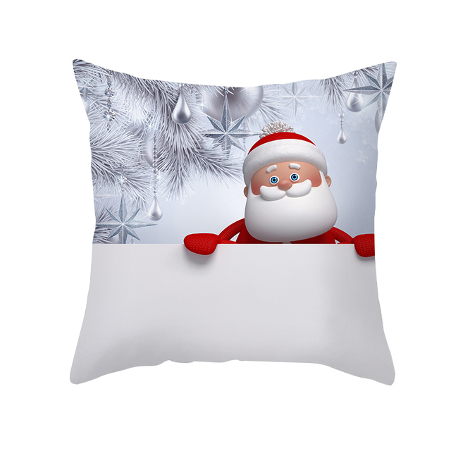 45X45Cm Silver Christmas Cushion Covers Merry Christmas Decoration For Home Gift