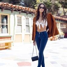 Melody Jeans Mid Rise Skinny Fitness Girls Women Shapewear Slim-Fit Sexy Denim Fashion