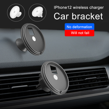 Magnet Array Wireless Car Charger Holder For iPhone 12 Por Max/12 Mini/12 Pro Car Phone Holder Qi Fast Wireless Chargers MagSafe image