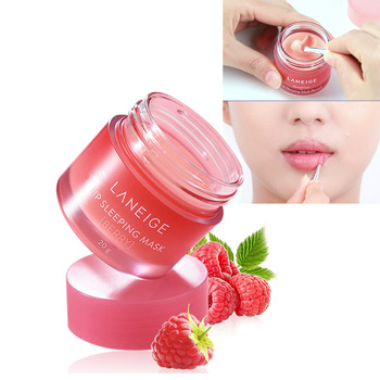 Korea Lip mask Cream 20g Grape Fruit Essence Nutrious Lip Care Moisture Lip Balm with Lip Brush Smoothing Dryness 1