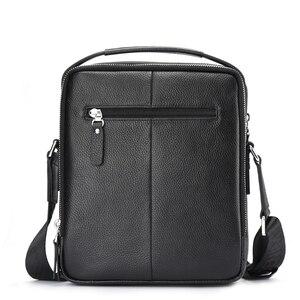 Image 2 - バイソンデニム本革メンズバッグipadハンドバッグ男性メッセンジャーバッグの男のクロスボディショルダーバッグ旅行用バッグN2333