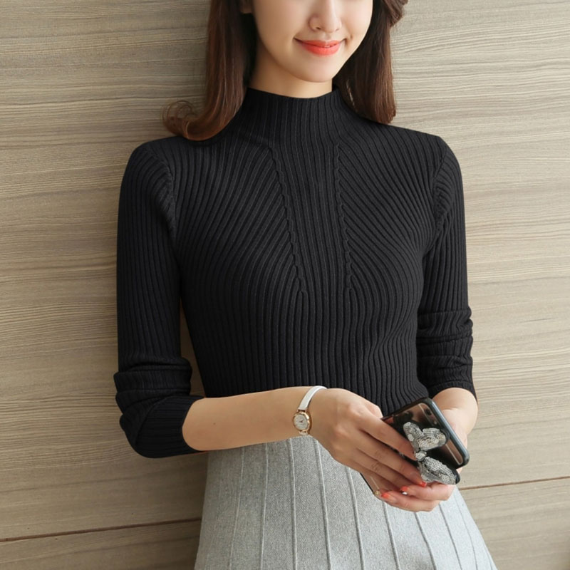 Fashion Top Sweater 2020 Winter Long Sleeve Turtleneck Pullover Women's Sweater