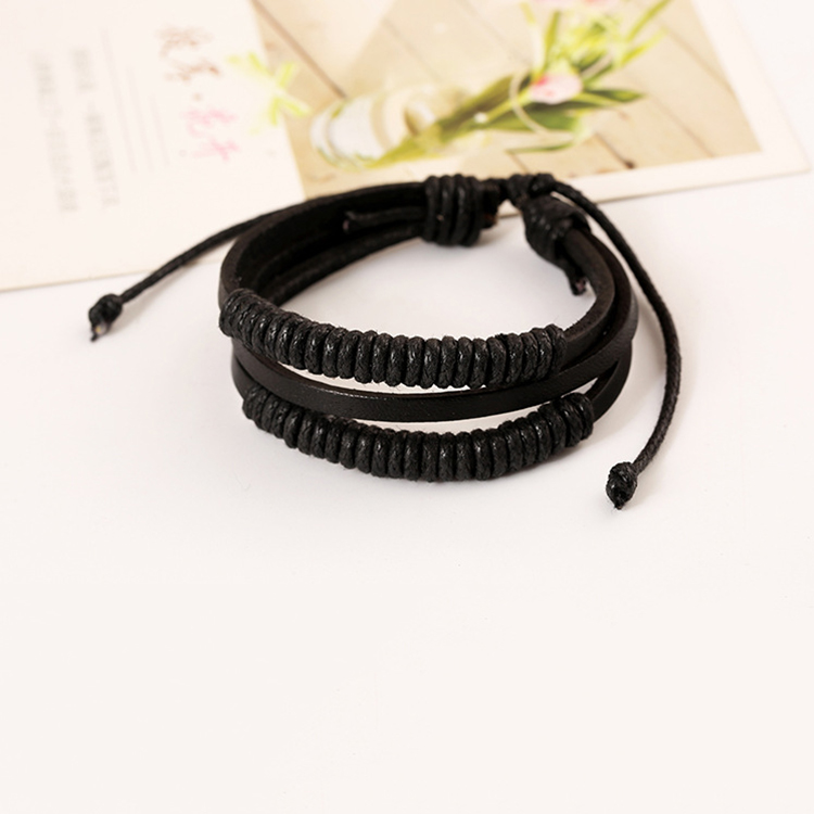 2019 Fashion Charm Men 39 s Bracelets Trendy Boys Bangle DIY Handmade Weave Charm Leather Bracelets adjustable Jewellery in Charm Bracelets from Jewelry amp Accessories